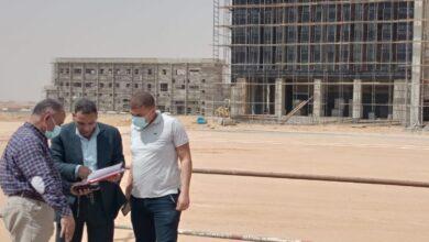 """رئيس جهاز """"بدر"""" يتفقد مشروعات الطرق المؤدية لمحطات القطار الكهربائى"""