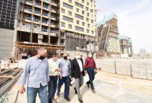 وزير الإسكان يتفقد مشروعات منطقة الأعمال المركزية والحدائق المركزية